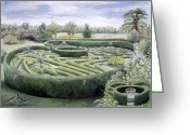 Surroundings Greeting Cards - Maze Greeting Card by Ariel Luke