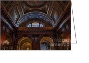 Staircase Greeting Cards - McGraw Rotunda NYPL Greeting Card by Susan Candelario