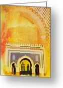Formerly Greeting Cards - Medina of Faz Greeting Card by Catf