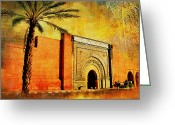 Formerly Greeting Cards - Medina of Marakkesh Greeting Card by Catf