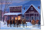 Snow Board Greeting Cards - Meeting of the Board Greeting Card by Randy Follis