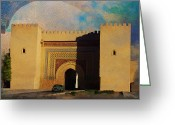 Rabat Painting Greeting Cards - Meknes Greeting Card by Catf