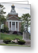 Great Point Greeting Cards - Merchant Marine Academy Chapel V Greeting Card by JC Findley