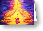 Ark Of The Covenant Greeting Cards - Mercy Greeting Card by Nancy Cupp