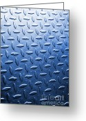 Aluminum Greeting Cards - Metallic Floor Greeting Card by Carlos Caetano