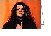 Release Greeting Cards - Michael Hutchence Greeting Card by Paul Meijering
