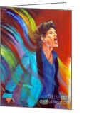 Hall Of Fame Greeting Cards - Mick Jagger 1 Greeting Card by To-Tam Gerwe