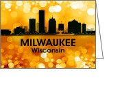 Capital Mixed Media Greeting Cards - Milwaukee WI 3 Greeting Card by Angelina Vick