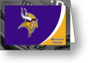 Touchdown Greeting Cards - Minnesota Vikings Greeting Card by Joe Hamilton