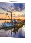 Boats Greeting Cards - Miss Lewis Greeting Card by Debra and Dave Vanderlaan