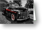 Antique Truck Greeting Cards - Monte Carlo in the Mirror Greeting Card by Lance Vaughn