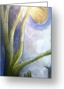 Tor Painting Greeting Cards - Moonlight Dangled From Their Wrists Greeting Card by Tracie Hanson
