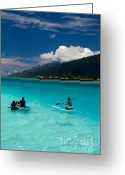 French Polynesia Greeting Cards - Moorea Lagoon No 11 Greeting Card by David Smith