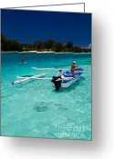 French Polynesia Greeting Cards - Moorea Lagoon No 12 Greeting Card by David Smith