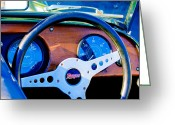 Morgan Greeting Cards - Morgan Steering Wheel Greeting Card by Jill Reger