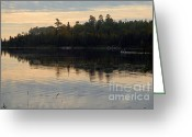 Larry Ricker Greeting Cards - Morning on Boot Lake Greeting Card by Larry Ricker