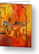 Formerly Greeting Cards - Morocco Heritage Poster 00 Greeting Card by Catf