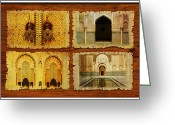 Formerly Greeting Cards - Morocco Heritage Poster 01 Greeting Card by Catf