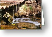 Flooding Greeting Cards - Mossy Falls Greeting Card by JFantasma Photography