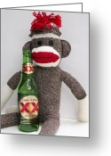 Most Photo Greeting Cards - Most Interesting Sock Monkey in the World Greeting Card by William Patrick