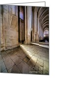 Old World Photography Greeting Cards - Mosterio da Batalha Greeting Card by David Letts