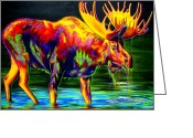 Moose Drool Greeting Cards - Motley Moose Greeting Card by TeshiaArt
