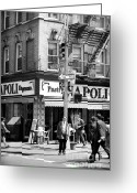 John Rizzuto Greeting Cards - Mulberry Street 1990s Greeting Card by John Rizzuto