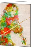 Violinist Greeting Cards - Music In My Soul Greeting Card by Nikki Marie Smith