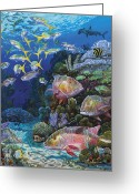 Mutton Greeting Cards - Mutton Reef Greeting Card by Carey Chen