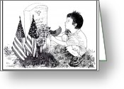 Wounded Warrior Greeting Cards - My Tribute Greeting Card by Joseph Juvenal