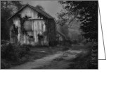 Abandoned Buildings Greeting Cards - Mysterious Greeting Card by Bill  Wakeley