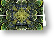 Green. Organic Greeting Cards - Nature Gates Greeting Card by Anastasiya Malakhova