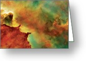 Photograph Photo Greeting Cards - Nebula Cloud Greeting Card by The  Vault