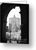 Woolworth Building Greeting Cards - New York Arches 1990s Greeting Card by John Rizzuto