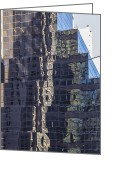 Angela Stanton Greeting Cards - New York Reflections 16 Greeting Card by Angela A Stanton