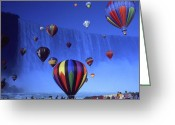 Hot Air Balloon Mixed Media Greeting Cards - Niagara Balloons - Fantasy Collage Greeting Card by Peter Art Prints Posters Gallery
