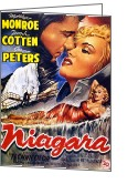 Vintage Movie Poster Greeting Cards - Niagara Greeting Card by Nomad Art And  Design