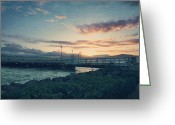 San Francisco Bay Greeting Cards - Nights Like These Greeting Card by Laurie Search