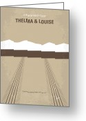 Posters And Greeting Cards - No189 My Thelma and Louise minimal movie poster Greeting Card by Chungkong Art