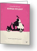 Scooter Greeting Cards - No205 My Roman Holiday minimal movie poster Greeting Card by Chungkong Art