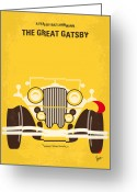 20s Greeting Cards - No206 My The Great Gatsby minimal movie poster Greeting Card by Chungkong Art