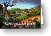 Regionalism Greeting Cards - no9 Warm Appalachian greetings Greeting Card by Walt Curlee