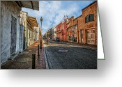 African Heritage Greeting Cards - NOLA French Quarter Greeting Card by Sennie Pierson