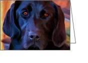 Black Lab Puppy Greeting Cards - Nothing But Love Greeting Card by Michael Pickett
