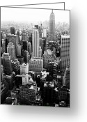 Rockefellar Greeting Cards - NYC from Rockefeller Center Greeting Card by Hee Jeong Savvides