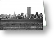1990s Greeting Cards - NYC Skyline 1990s Greeting Card by John Rizzuto