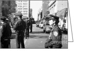 New York Cops Greeting Cards - NYPD 1990s Greeting Card by John Rizzuto