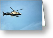New York City Police Greeting Cards - NYPD Aviation  Greeting Card by JC Findley