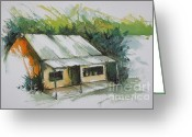 Abandoned House Painting Greeting Cards - Old Abandoned House Florida Greeting Card by Robert Birkenes