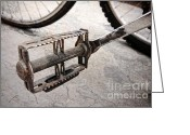 Old Bike Greeting Cards - Old Bicycle Greeting Card by Charline Xia